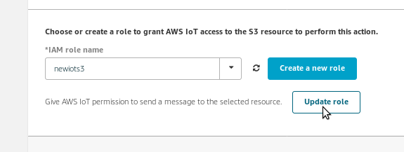 AWS Internet of Things (Iot) workaround for role definition for IoT actions