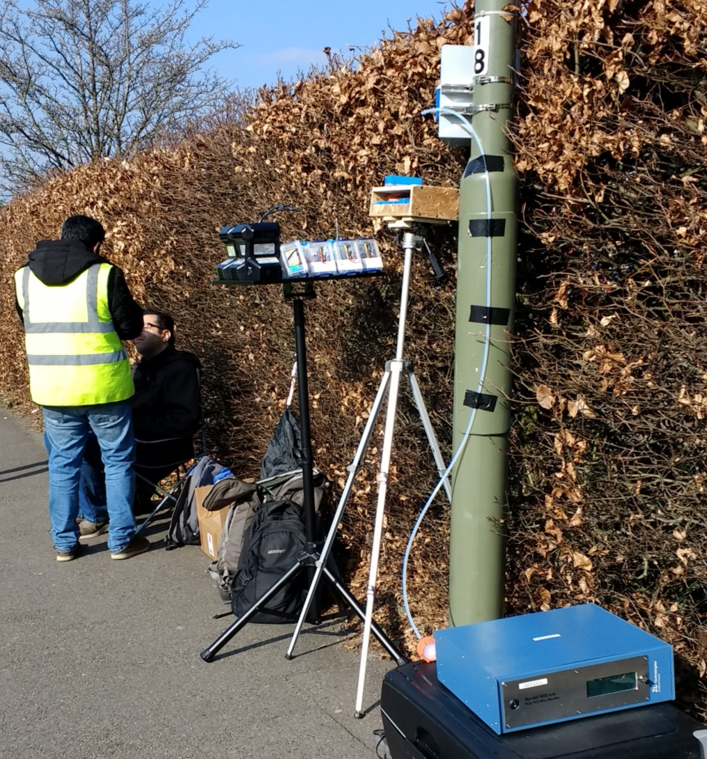stoke road air pollution testing campaign site